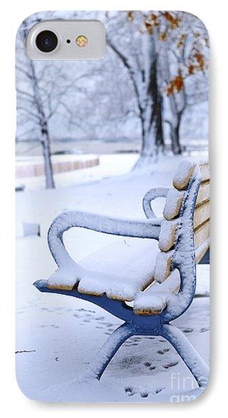 Winter Bench Phone Case by Elena Elisseeva