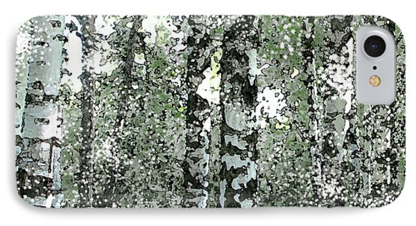 Winter Birches IPhone Case by Walter Chamberlain