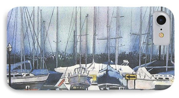 IPhone Case featuring the painting Winter Blues by LeAnne Sowa