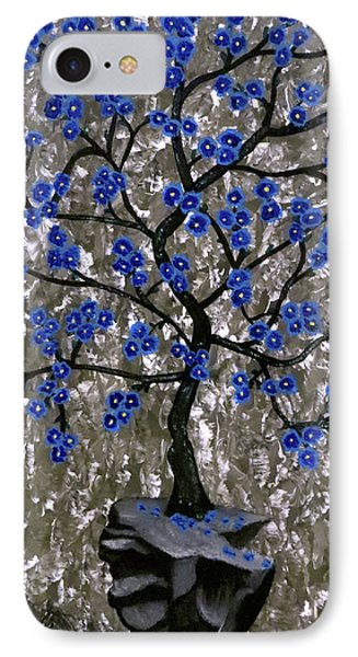 IPhone Case featuring the painting Winter Blues by Teresa Wing