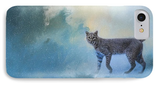 Winter Bobcat IPhone Case by Jai Johnson