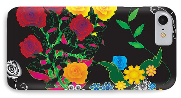 IPhone Case featuring the digital art Winter Bouquet by Kim Prowse