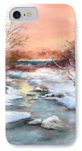 IPhone Case featuring the painting Winter Brook by Jack Skinner