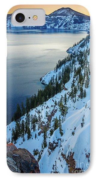 Winter Caldera IPhone Case by Inge Johnsson