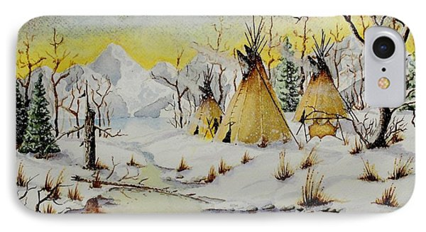 Winter Camp IPhone Case by Jimmy Smith