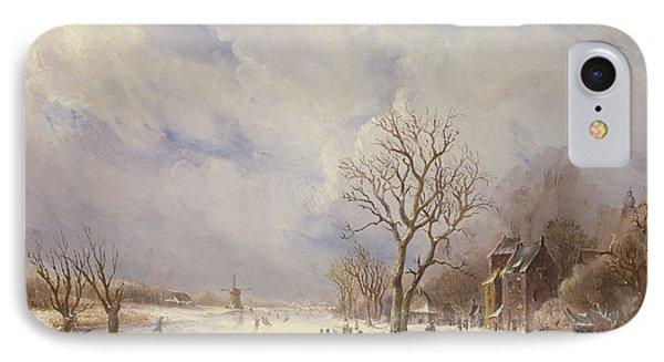 Winter Canal Scene Phone Case by Jan Lynn