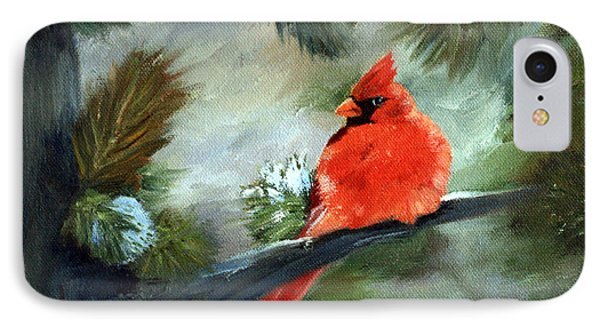 Winter Cardinal IPhone Case by Brenda Thour