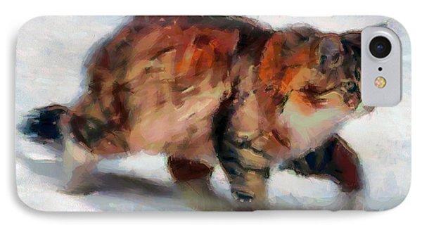 Winter Cat IPhone Case by Sergey Lukashin