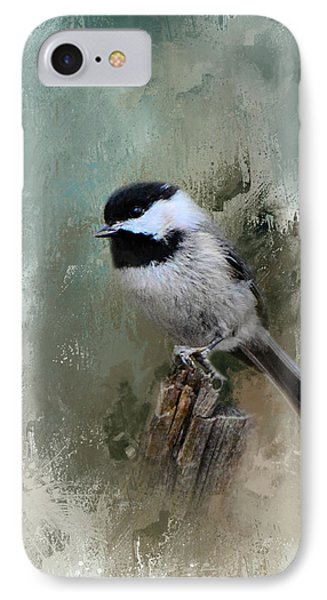 Winter Chickadee IPhone Case by Jai Johnson