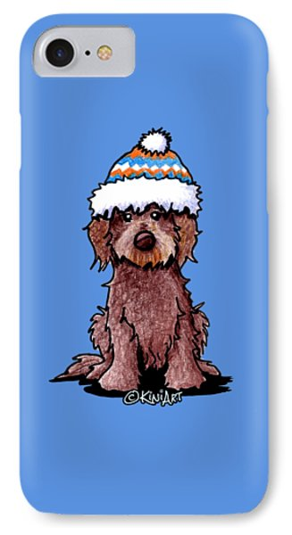 Winter Chocolate Doodle IPhone Case by Kim Niles