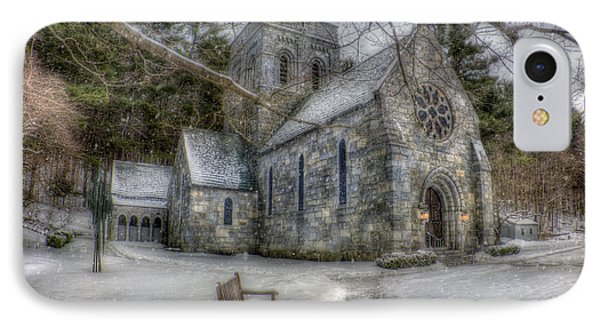 Winter Church In New England IPhone Case by Joann Vitali