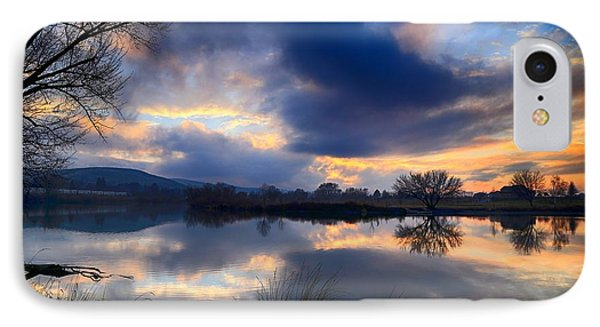 Winter Colors At Sunset IPhone Case by Lynn Hopwood