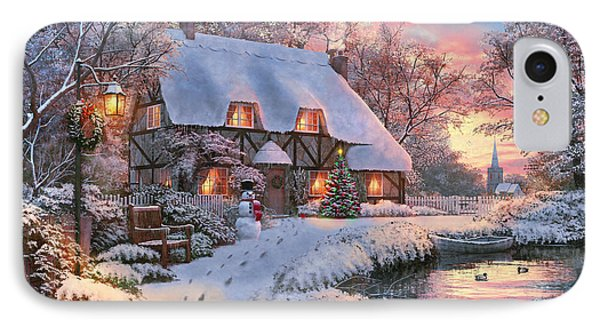 Winter Cottage IPhone Case by 2015, Dominic Davison, Licensed by MGL, www.mgllicensing.com.