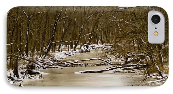 IPhone Case featuring the photograph Winter Creek by Bonnie Willis