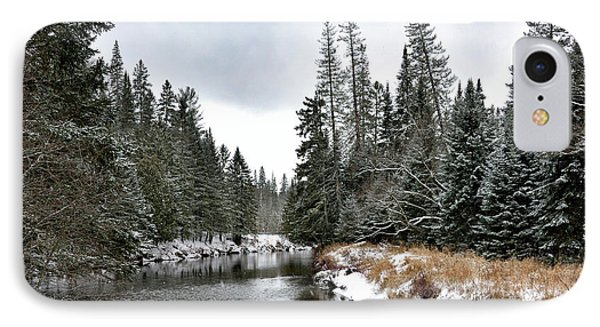 Winter Creek In Adirondack Park - Upstate New York IPhone Case by Brendan Reals