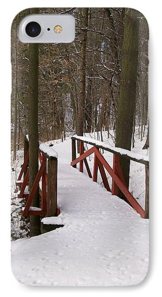 IPhone Case featuring the photograph Winter Crossing by Sara  Raber
