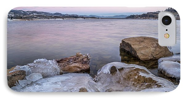 Winter Dawn Over Mountain Lake IPhone Case