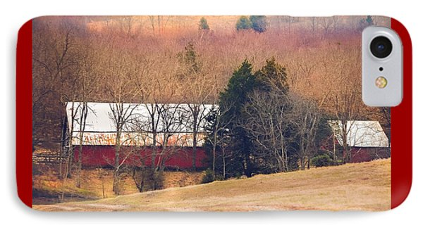 Winter Day On A Tennessee Farm IPhone Case by Debbie Karnes