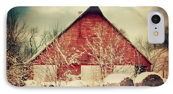 Winter Day On The Farm IPhone Case by Julie Hamilton