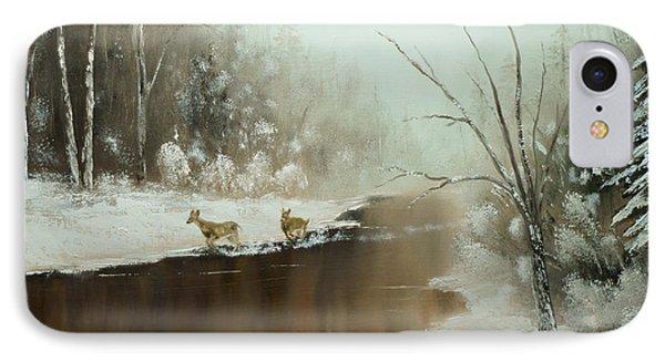 Winter Deer Run IPhone Case by Chris Fraser