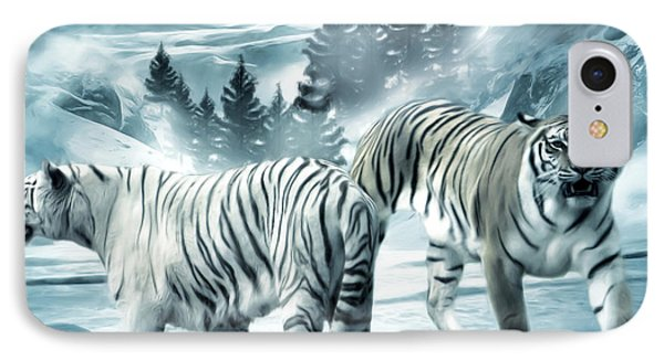 Winter Deuces Phone Case by Lourry Legarde