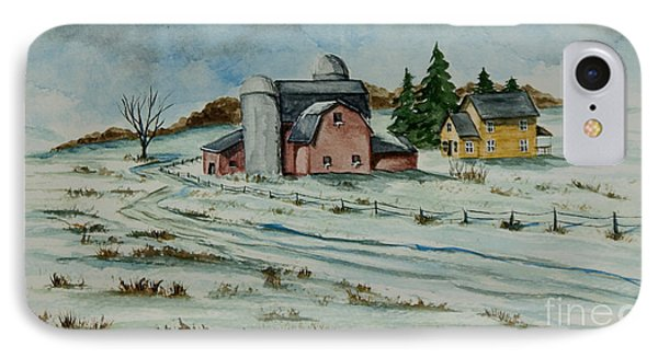 Winter Down On The Farm Phone Case by Charlotte Blanchard