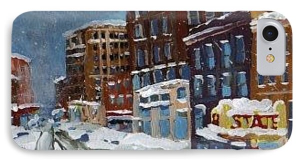 Winter Downtown IPhone Case by Rodger Ellingson