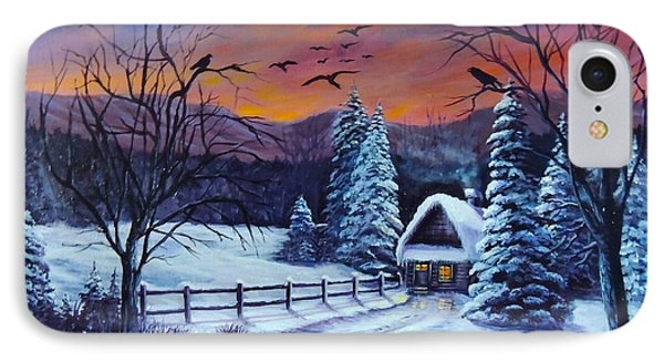 Winter Evening 2 IPhone Case by Bozena Zajaczkowska
