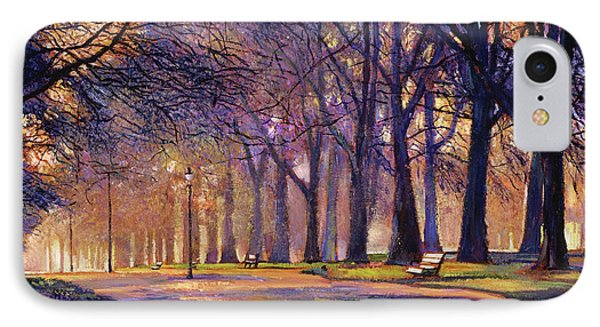 Winter Evening In Central Park IPhone Case by David Lloyd Glover