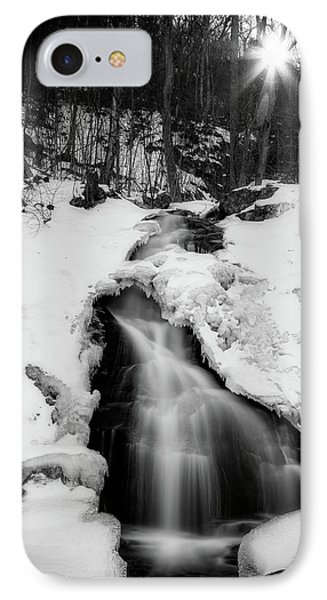 IPhone Case featuring the photograph Winter Falls With Sun by Alan Raasch