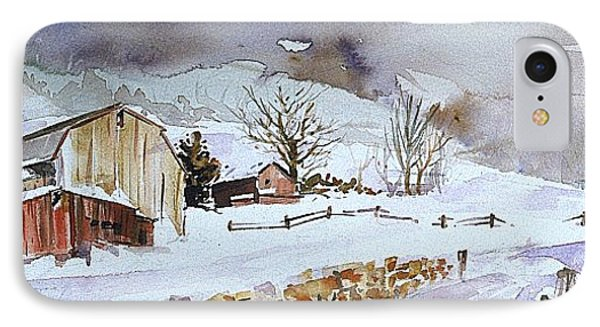 Winter Farm Country IPhone Case by P Anthony Visco