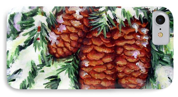 Winter Fir Cones IPhone Case by Inese Poga
