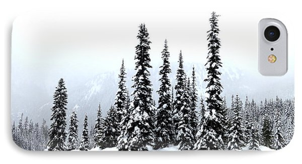 Winter Firs IPhone Case by Tanya Searcy