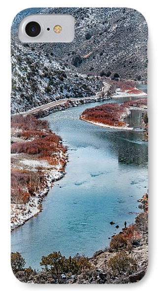 IPhone Case featuring the photograph Winter Fisherman by Britt Runyon