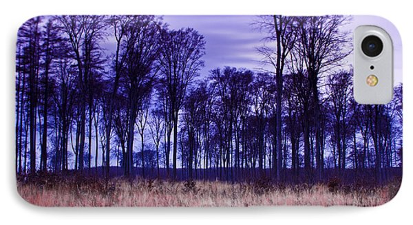 IPhone Case featuring the photograph Winter Forest At Sunset In Hungary by Gabor Pozsgai