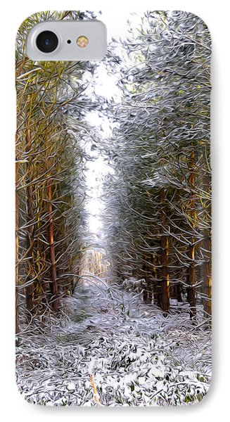 Winter Forest Phone Case by Svetlana Sewell