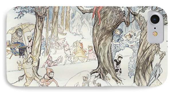 Winter Frolic IPhone Case by Arthur Rackham