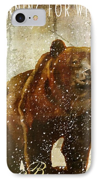 Winter Game Bear IPhone Case by Mindy Sommers