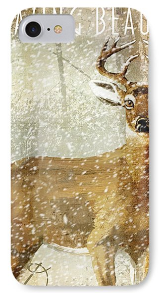 Winter Game Deer IPhone Case by Mindy Sommers