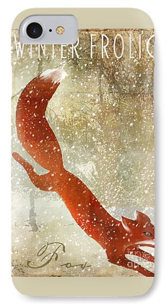 Winter Game Fox IPhone Case by Mindy Sommers