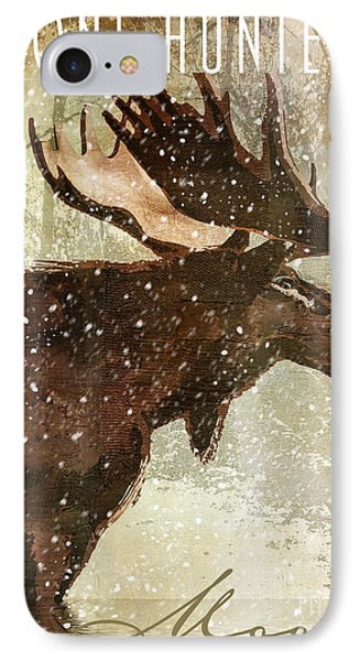 Winter Game Moose IPhone Case by Mindy Sommers