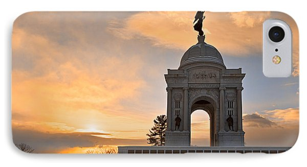 Winter Gettysburg Sunrise IPhone Case