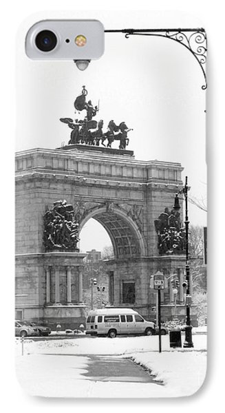 Winter Grand Army Plaza IPhone Case by Mark Gilman