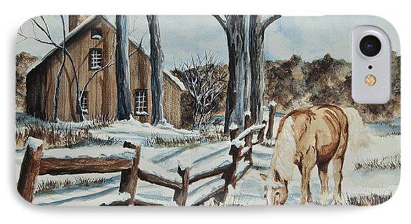 Winter Grazing  Phone Case by Charlotte Blanchard