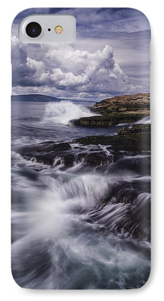 Winter Harbor At Acadia National Park IPhone Case
