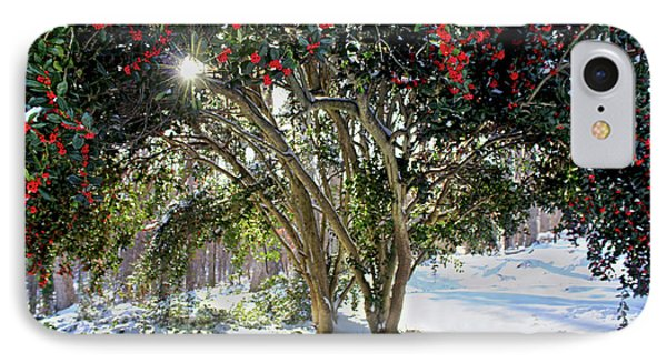 IPhone Case featuring the photograph Winter Holly by Jessica Brawley