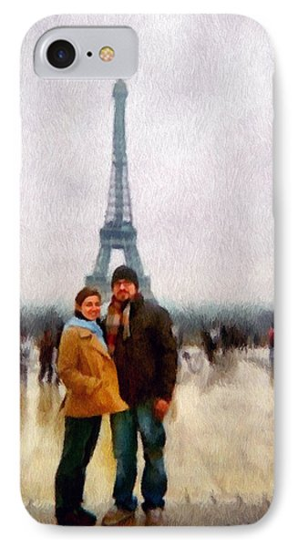 Winter Honeymoon In Paris Phone Case by Jeff Kolker