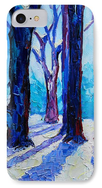 IPhone Case featuring the painting Winter Impression by Ana Maria Edulescu