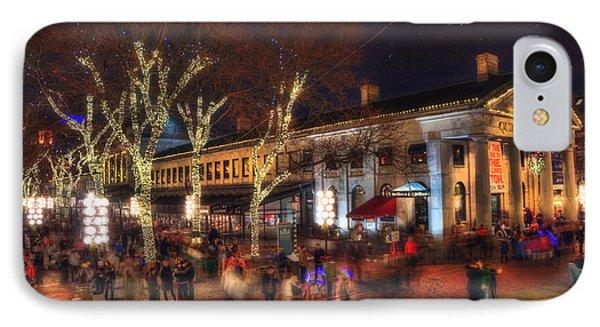 Winter In Boston - Quincy Market IPhone Case by Joann Vitali