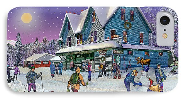 Winter In Campton Village IPhone Case by Nancy Griswold